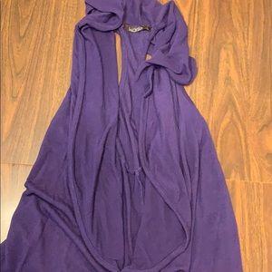 Karlie brand purple flowy vest